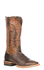 Ariat Men's Tough Company Tan w/ Sic Em Sand Upper Relentless Elite Wide Square Toe Western Boots