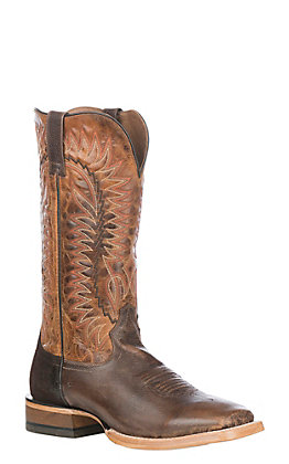 Ariat Men's Tough Company Tan with Sic Em Sand Upper Relentless Elite Wide Square Toe Western Boots