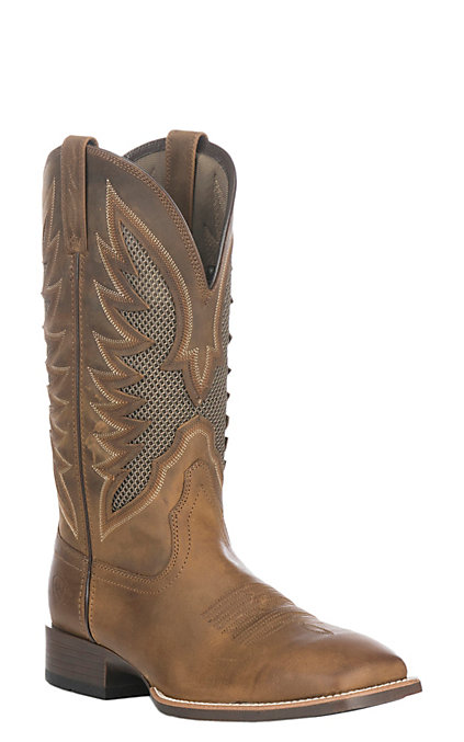 best authentic 2b266 68783 Ariat VentTEK Ultra Men's Distressed Brown Wide Square Toe Western Boots