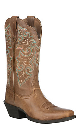 Ariat Women's Wood Round Up Square Toe Western Boots