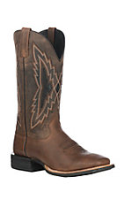 Ariat Men's Bar Room Brown w/ Weather Brown Upper Top Notch Relentless Wide Square Toe Western Boots