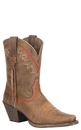 Ariat Women's Vintage Bomber Round Up Aztec Snip Toe Western Boots