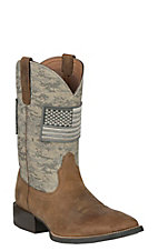 Ariat Men's Patriot Sport Distressed Brown Sage Western Square Toe Boot
