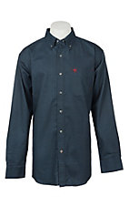 Ariat Men's Durango Navy Print Long Sleeve FR Work Shirt - Big & Tall