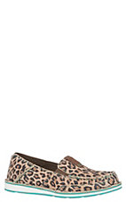 Ariat Women's Cheetah Print Moc Toe Cruiser Shoe