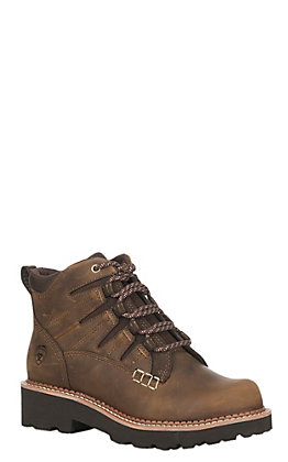Ariat Women's Brown Leather Canyon Lace Up Casual Shoe