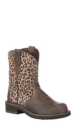 Ariat Women's Leopard Suede Heritage Trio Fatbaby Boot