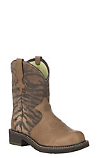 Ariat Women's Vintage Tiger Print Heritage Trio Fatbaby Boot