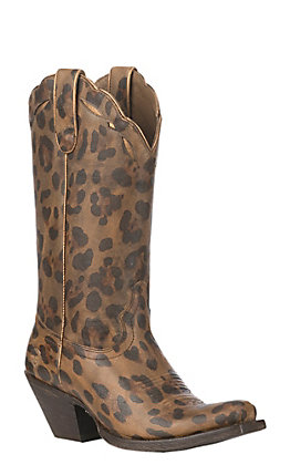 Ariat Women's Leopard Print Larue Square Toe Western Boot