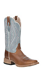Ariat Women's Gingersnap Leather Primetime Wide Square Toe Western Boot