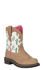 Ariat Women's Cactus Print Heritage Twill Fatbaby Boot