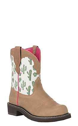 Ariat Women's Cactus Print Heritage Twill Fatbaby Boot