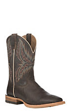Ariat Men's Arena Rebound Branding Iron Brown with Dark Desert Wide Square Toe Western Boot