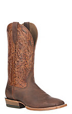 Ariat Men's Dusted Brown Leather Bronc Stomper Wide Square Western Boots