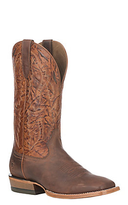 Ariat Bronc Stomper Men's Dusted Brown Wide Square Toe Western Boots