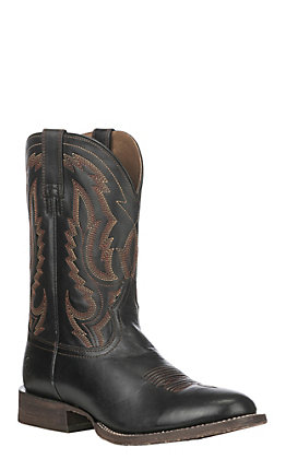Ariat Men's Black Leather Circuit Competitor Round Toe Western Boot