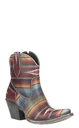 Ariat Women's Serape Saddle Blanket X Toe Circuit Cruz Fashion Ankle Boot