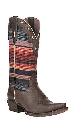 Ariat Women's Serape Dusk Circuit Serape X Toe Western Boot