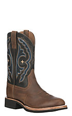 Ariat Men's Earth Leather Quantum Crepe Round Toe Western Boot