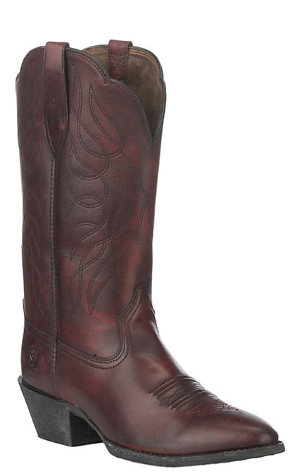 17543375470 Ariat Women's Ombre Red Heritage Western R Toe Western Boot