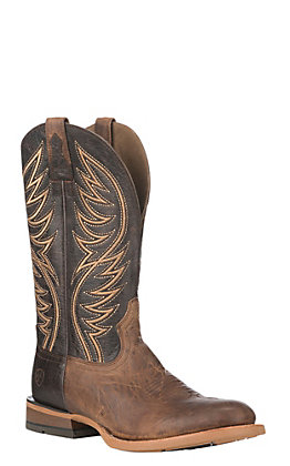 80243589c Ariat Men s Gray Slick Fork with Toffee Round Toe Western Boot