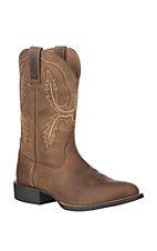 Ariat Men's Distressed Brown Sport Stratten Round Toe Western Boot