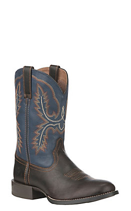 Ariat Men's Dark Wicker Sport Stratten Round Toe Western Boot