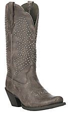 Ariat Women's Crinkled Grey Lakyn Square Toe Fashion Boot