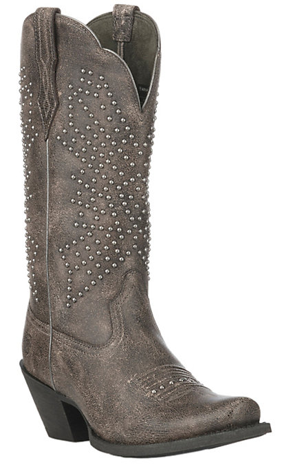 56d4ad7e18c Ariat Women's Crinkled Grey Lakyn Square Toe Fashion Boot