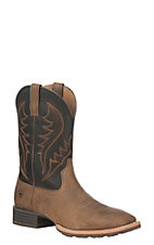 Ariat Men's Hybrid Rancher Earth with Black Wide Square Toe Western Boot