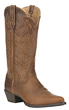 Ariat Women's Round Up Johanna Pearl Tan Pointed Toe Western Boot