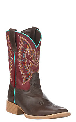 Ariat Kids Brown Bristo Wide Square Toe Western Boot