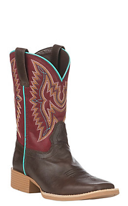 Ariat Youth Brown Bristo Wide Square Toe Western Boot