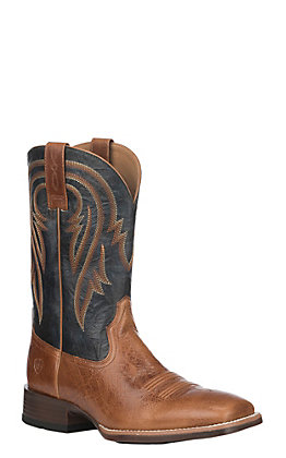 Ariat Men's Gingersnap Leather Plano Wide Square Toe Western Boot