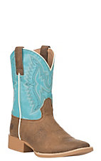 Ariat Youth Tan Bristo Wide Square Toe Western Boot