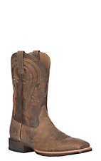 Ariat Men's Tan Leather Plano Wide Square Toe Western Boot