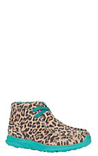 Ariat Youth Spitfire Leopard Lace Up Casual Shoe