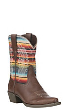 Ariat Girls Youth Brown Stella Serape Pointed Toe Western Boot