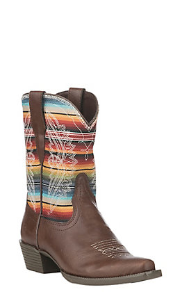 Ariat Youth Brown Stella Serape Pointed Toe Western Boot