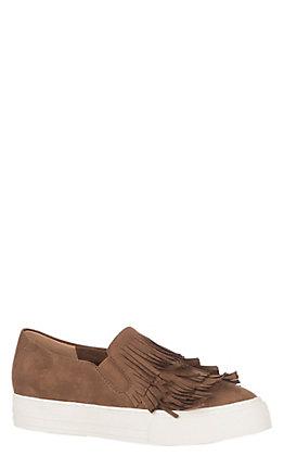Ariat Unbridled Bliss Women's Cognac Fringe Slip On Casual Shoes