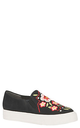 Ariat Unbridled Paisley Women's Black Embroidered Slip On Casual Shoes