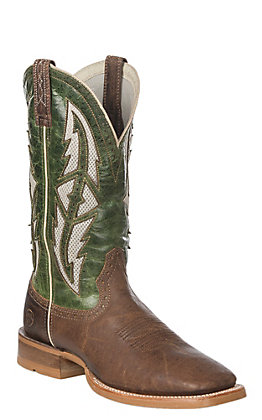 Ariat Cowhand VentTEK Men's Tobacco Toffee & Fresh Mint Wide Square Toe Western Boots