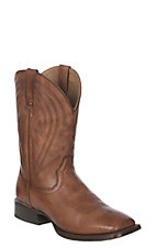 Ariat Men's Naturally Cognac Circuit Herd Boss Wide Square Toe Western Boot