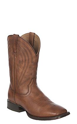 Ariat Circuit Herd Boss Men's Naturally Cognac Wide Square Toe Western Boots