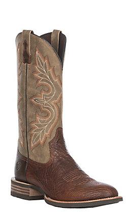Ariat Men's Antique Buckskin Lockwood Western Round Toe Boot