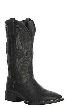 Ariat Men's Black Solado VentTEK Western Wide Square Toe Boot