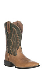 Arait Men's Light Brown Sport Riggin Western Wide Square Toe Boot