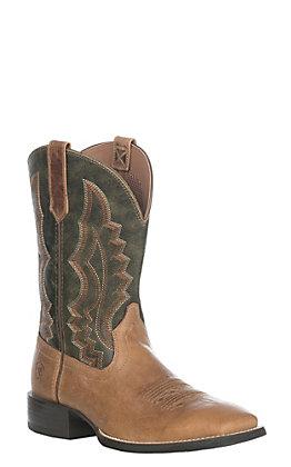 Ariat Sport Riggin Men's Light Brown Wide Square Toe Western Boots