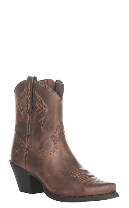 6e2e4fb8624 Ariat Women's Sassy Brown Lovely Western Snip Toe Booties