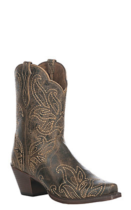 Ariat Ladies Rock Ridge Bellatrix D Toe Western Snip Point Boot